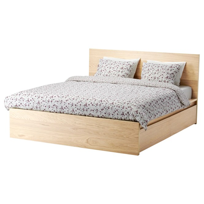 Ikea Malm Bed Frame High W 4 Storage Bo Real Wood Veneer Will Make