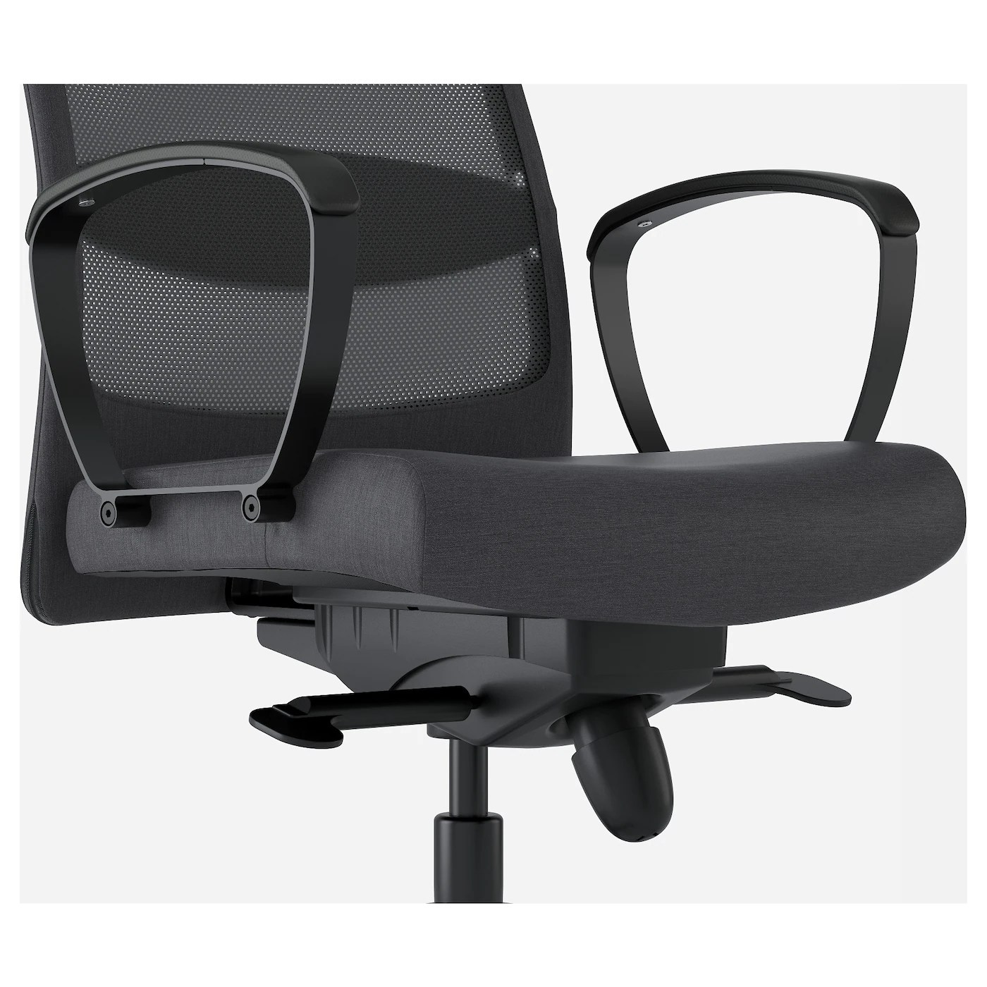 swivel chair jargon covers rentals toronto markus vissle dark grey ikea