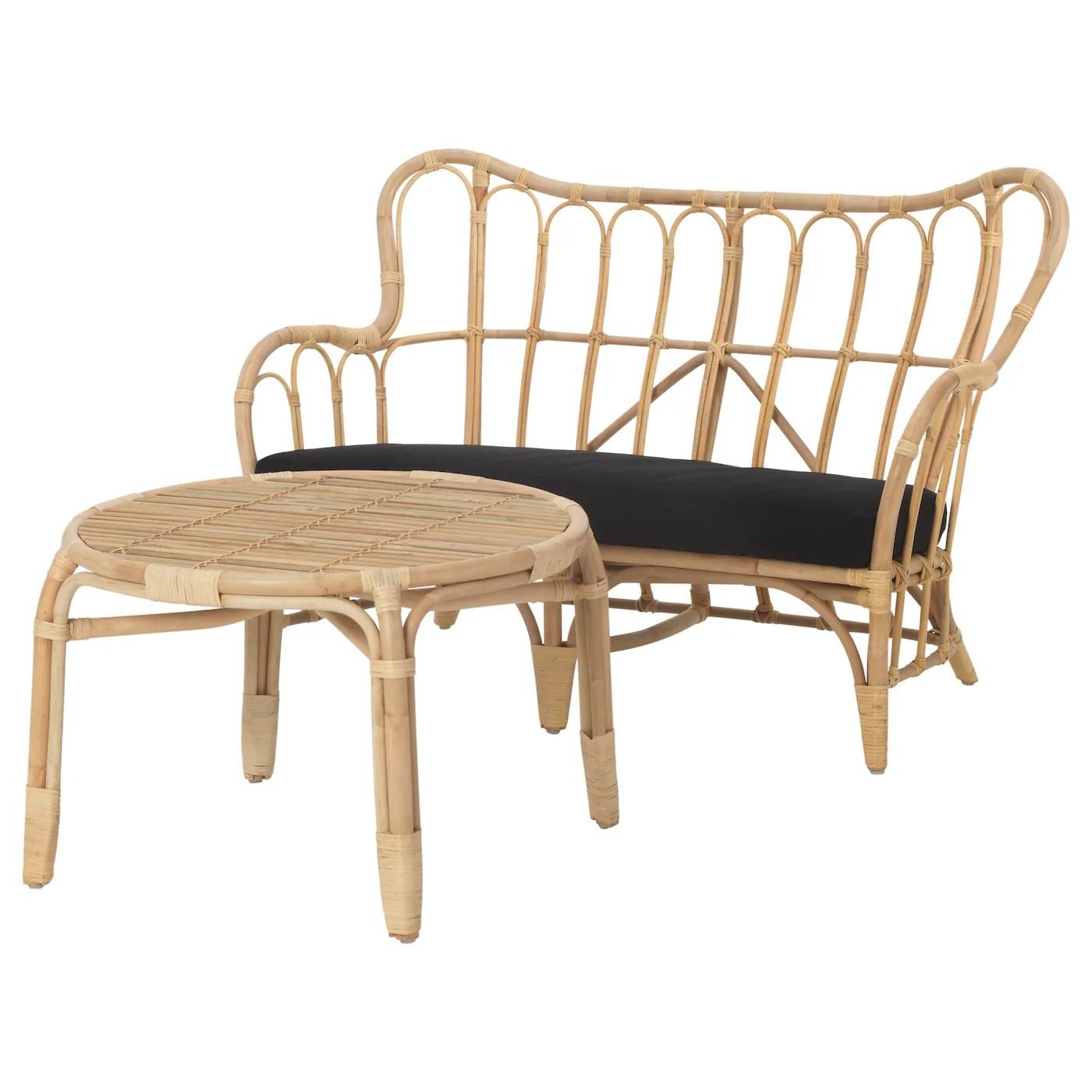 rattan chair ikea wwe ppv souvenir chairs mastholmen 2 seat conversation set outdoor