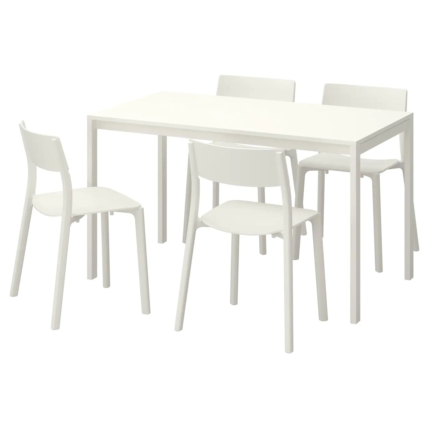 white table chairs zero gravity patio chair target dining sets room ikea melltorp janinge and 4