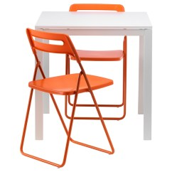 Folding Table And Chairs White Hickory Chair Company Melltorp Nisse 2 Orange 75