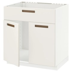 Kitchen Sink Cabinets Pots And Pans Base Units Ikea Metod Cabinet F W 2 Doors Front Sturdy Frame Construction 18