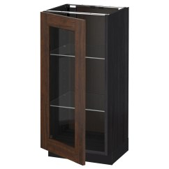 Black Glass Kitchen Cabinet Doors Tall Trash Cans Image To U