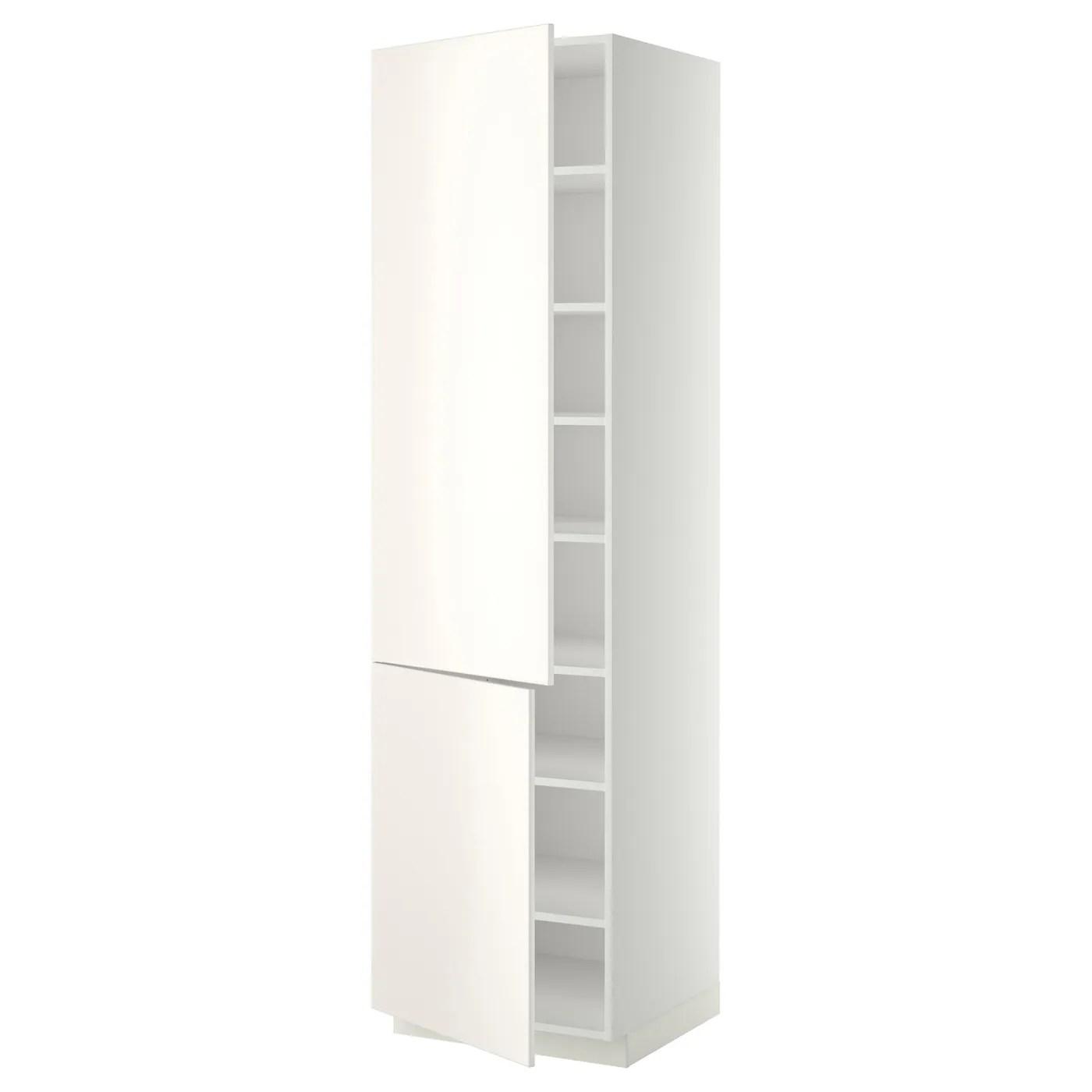 METOD High cabinet with shelves2 doors Whiteveddinge