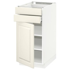 2 Drawer Base Kitchen Cabinet Makeover On A Budget Metod Maximera W Door Drawers White Bodbyn
