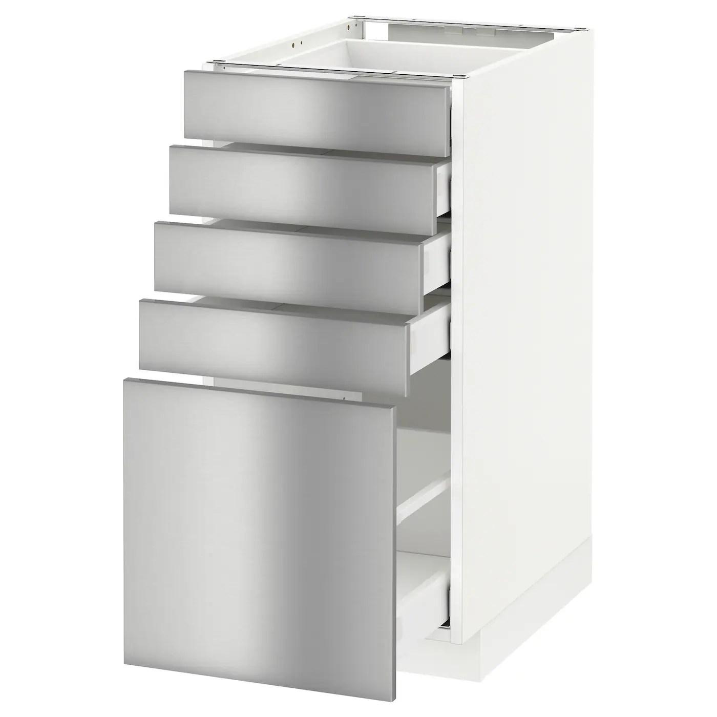 5 drawer kitchen base cabinet black subway tile metod maximera with drawers white grevsta