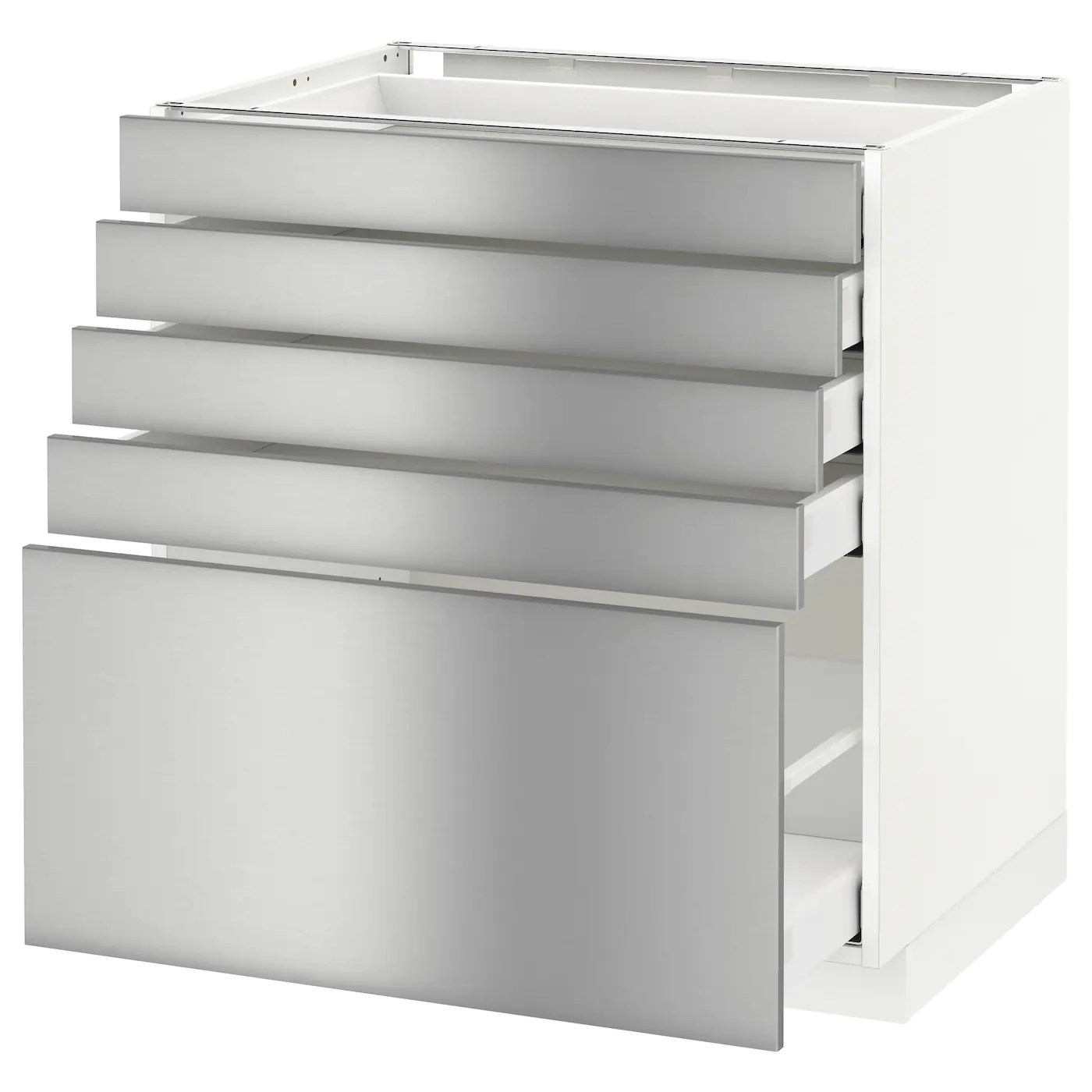 5 drawer kitchen base cabinet high chair for counter metod maximera with drawers white grevsta
