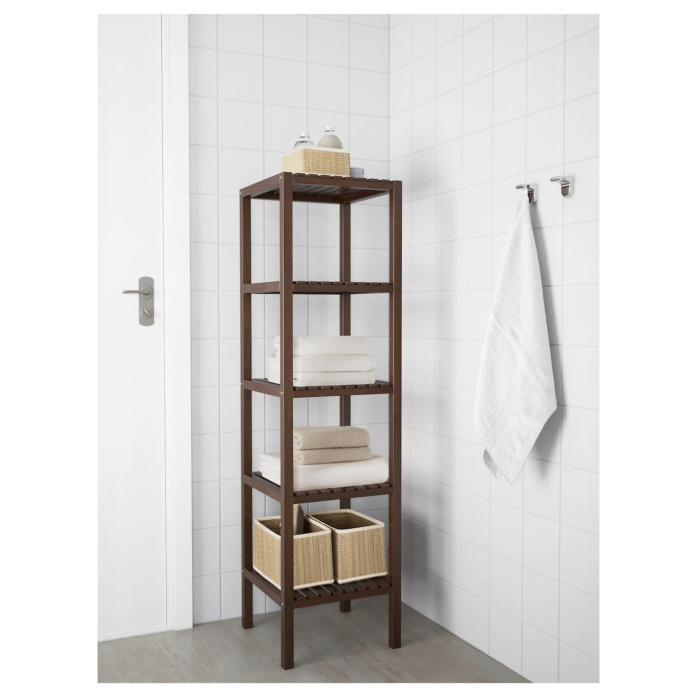 MOLGER Shelving unit Dark brown 37x140 cm  IKEA