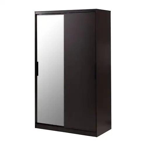 MORVIK Wardrobe Black Brownmirror Glass IKEA