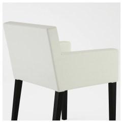 Ikea Nils Chair Covers Uk Knotted Melati Hanging With Armrests Black Blekinge White