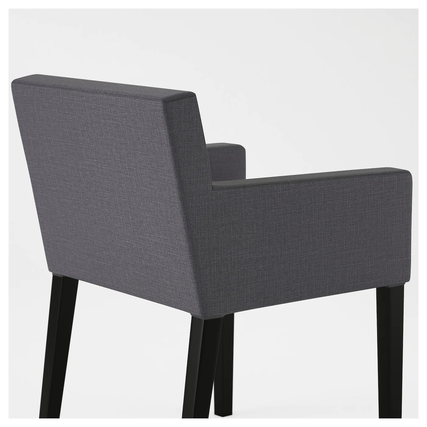 nils chair cover retro dining table and chairs ireland with armrests black skiftebo dark grey ikea