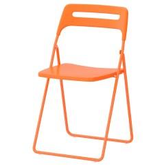 Folding Chair Ikea Mesh Office Support Nisse Orange
