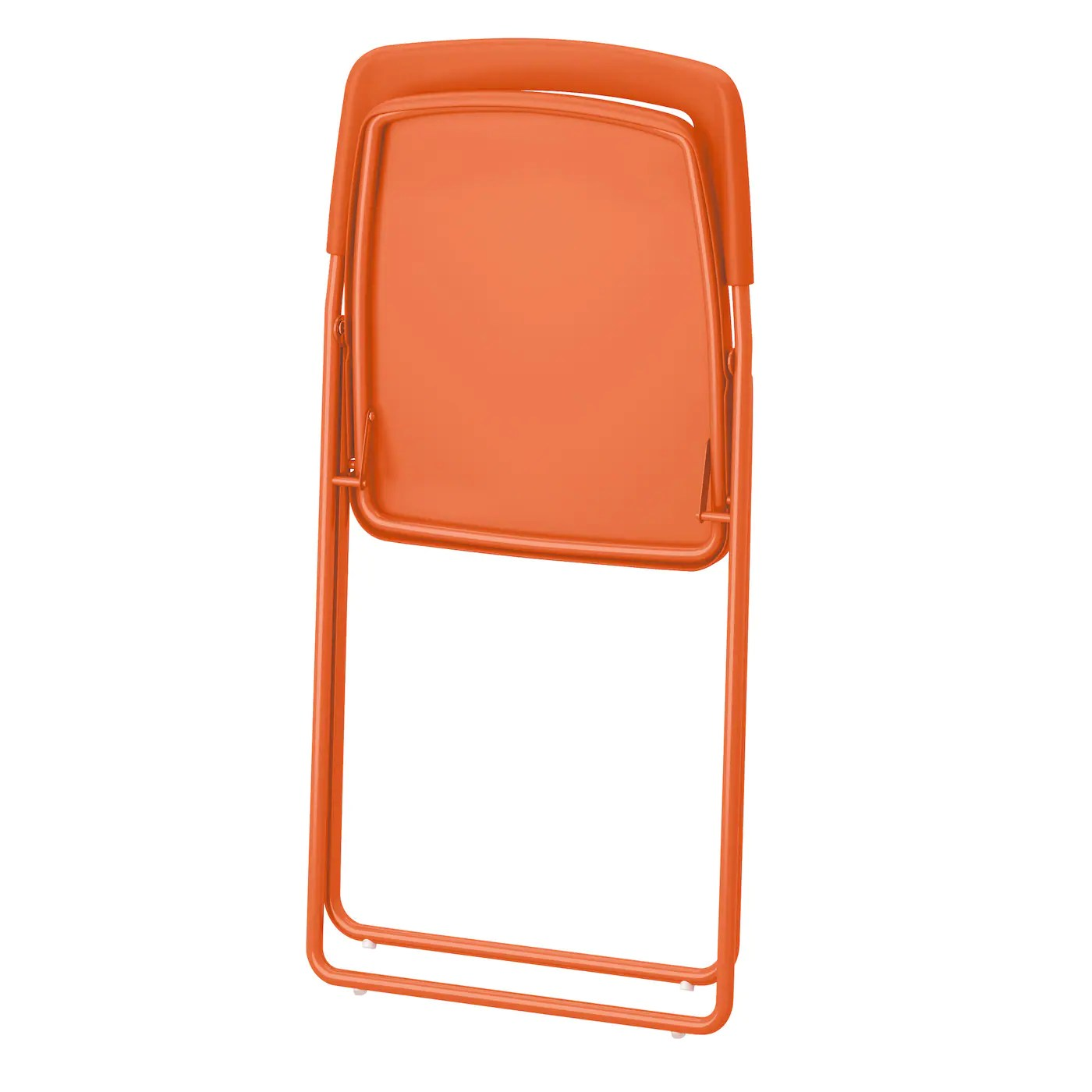 ikea foldable chairs game room table and nisse folding chair orange