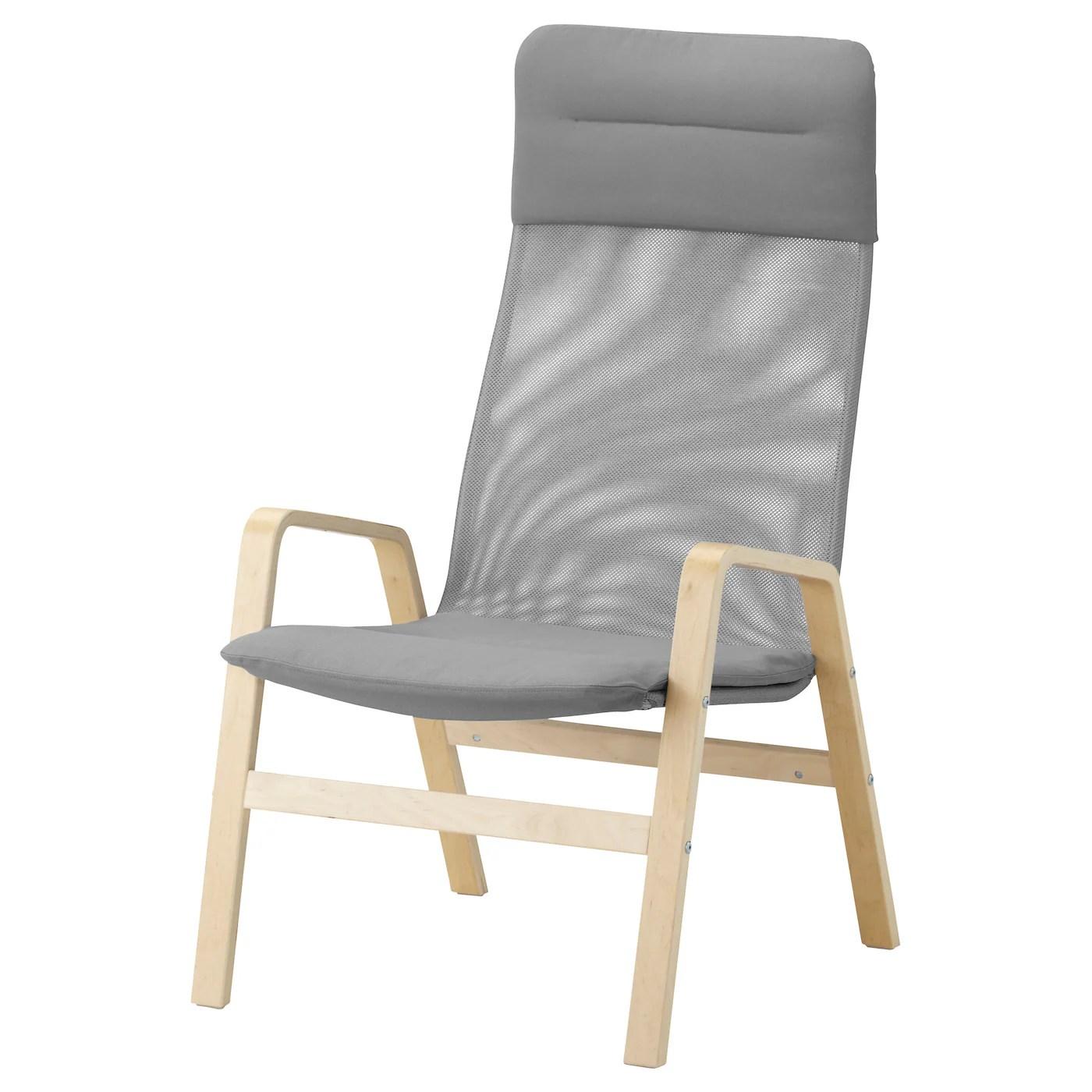 ikea high chairs la z boy office chair canada nolbyn back armchair birch veneer grey
