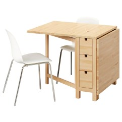 Ikea Wooden Dining Table 4 Chairs Folding Sets And Room