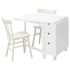 White Table Chairs Chair Swivel Base Norden Norraryd And 2 89 Cm Ikea