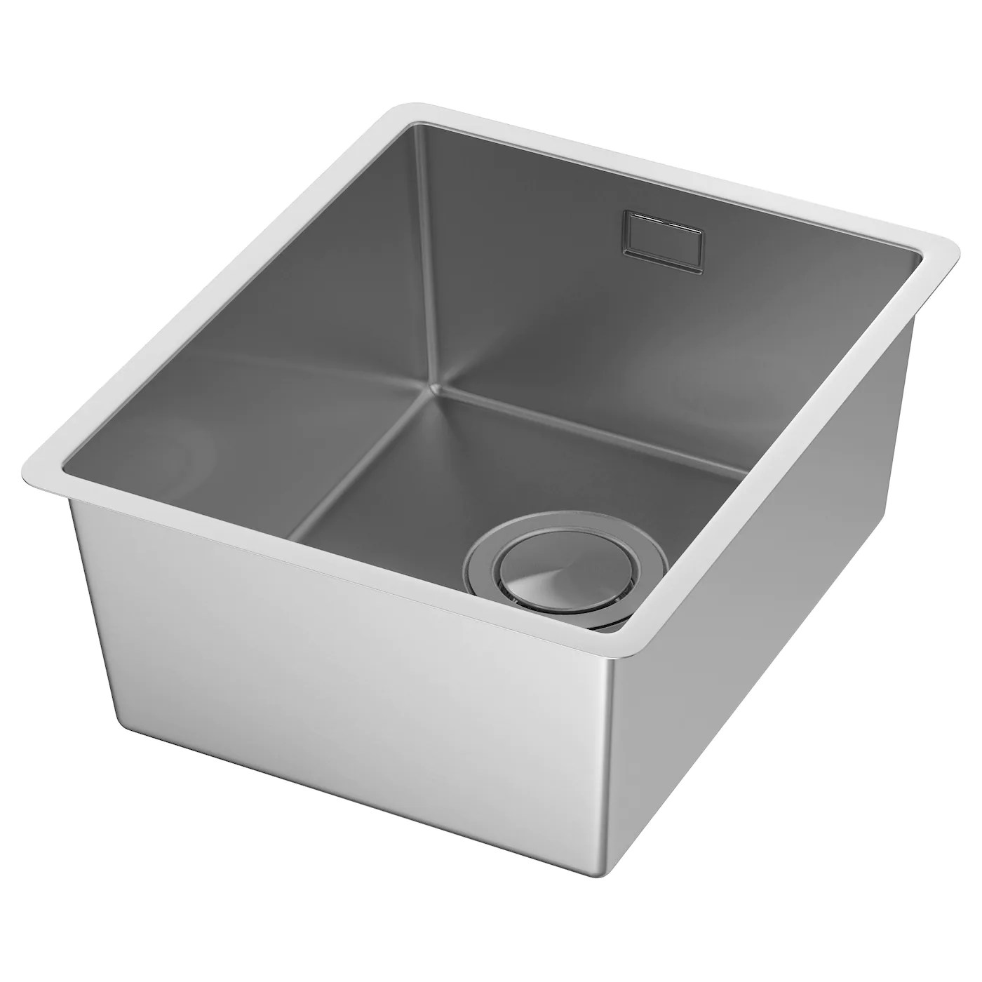 black sink kitchen countertop trends sinks taps ikea norrsjon inset 1 bowl 25 year guarantee read about the terms in