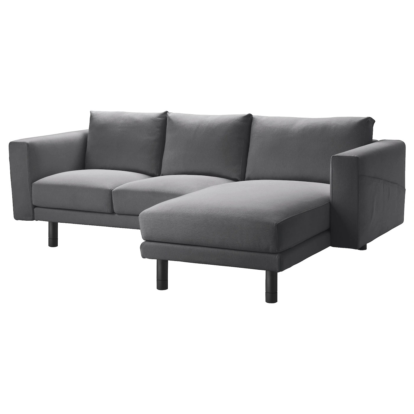 dark grey sectional sofa with chaise cheap l shaped singapore norsborg two seat longue finnsta