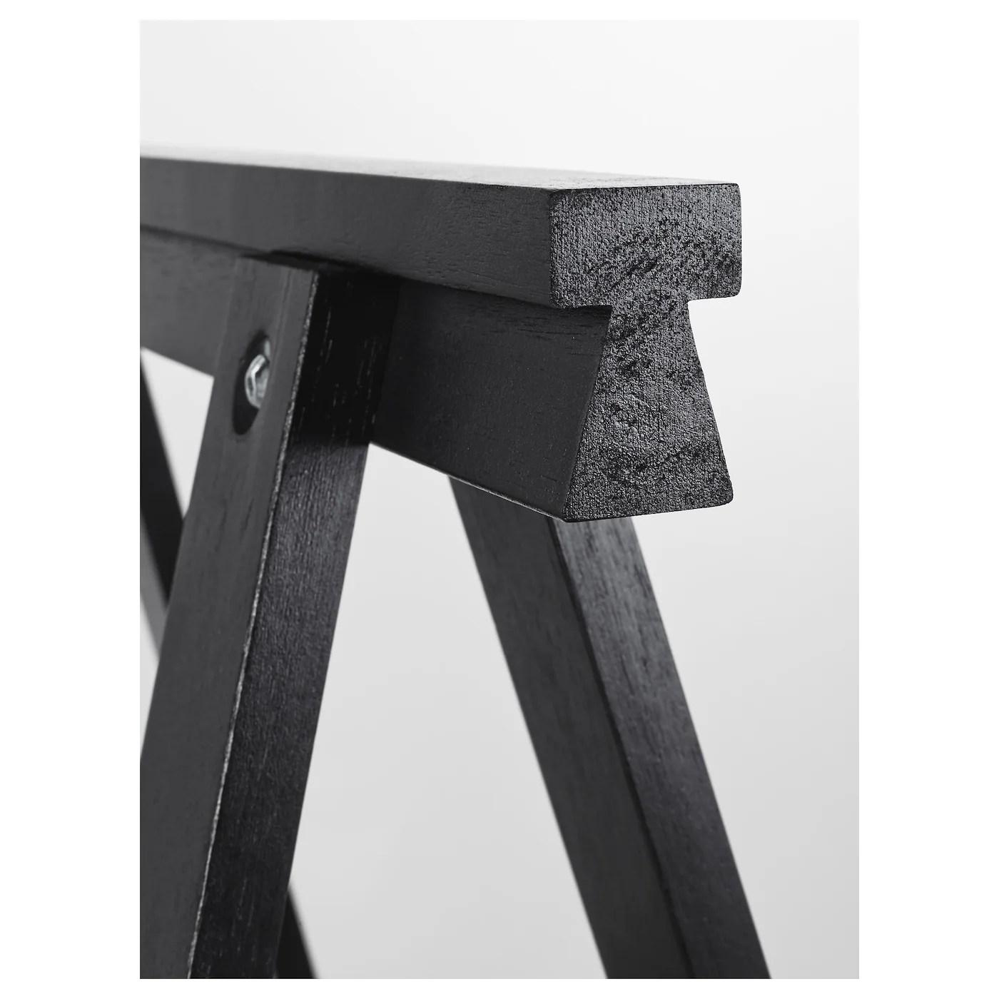 oddvald trestle black 70x70 cm