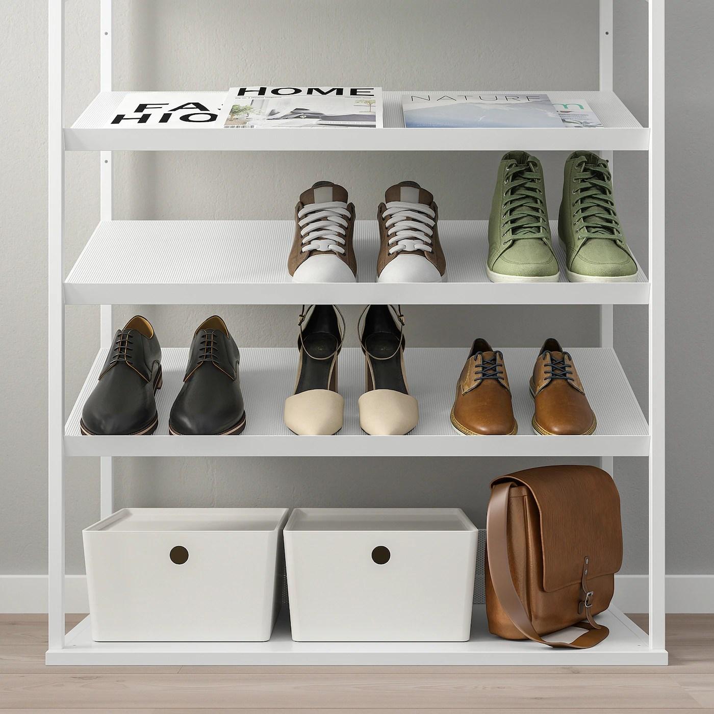 platsa open shoe storage unit white 80x40x120 cm