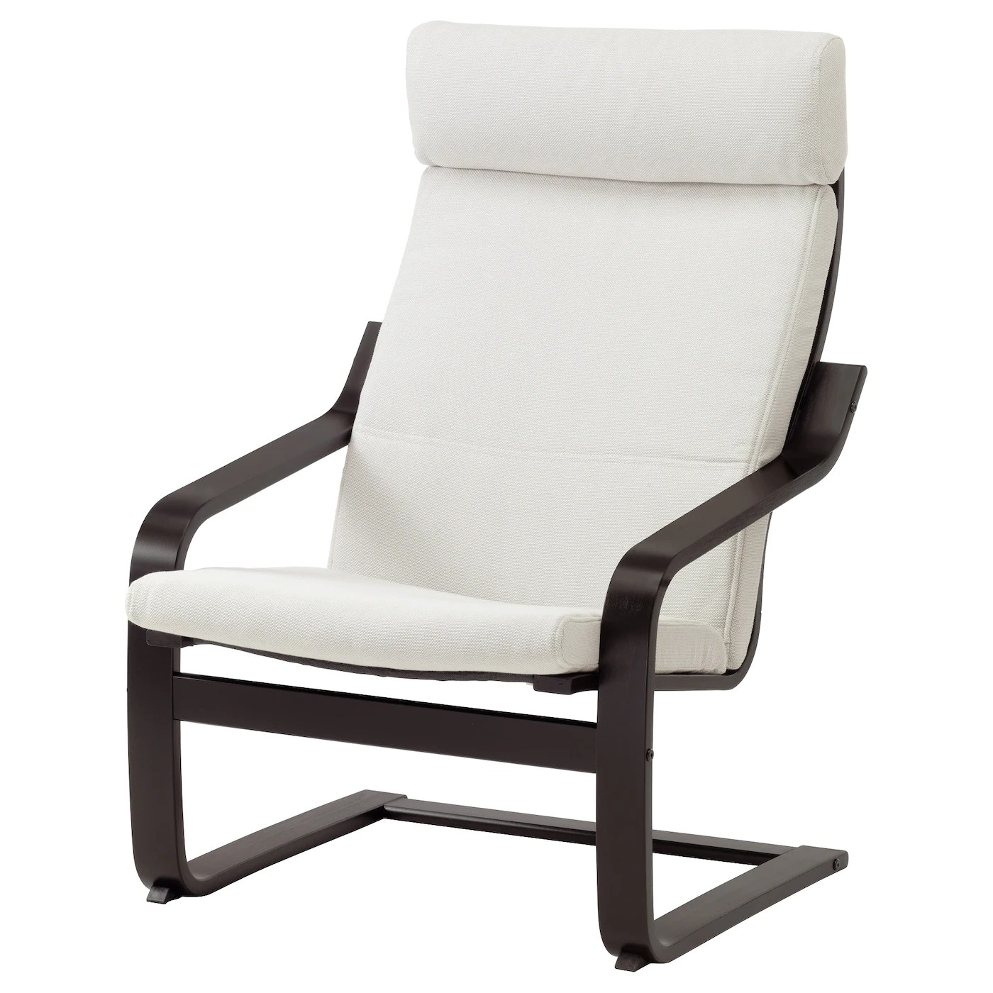 white lounge chair covers best high for small spaces poÄng armchair black brown finnsta ikea