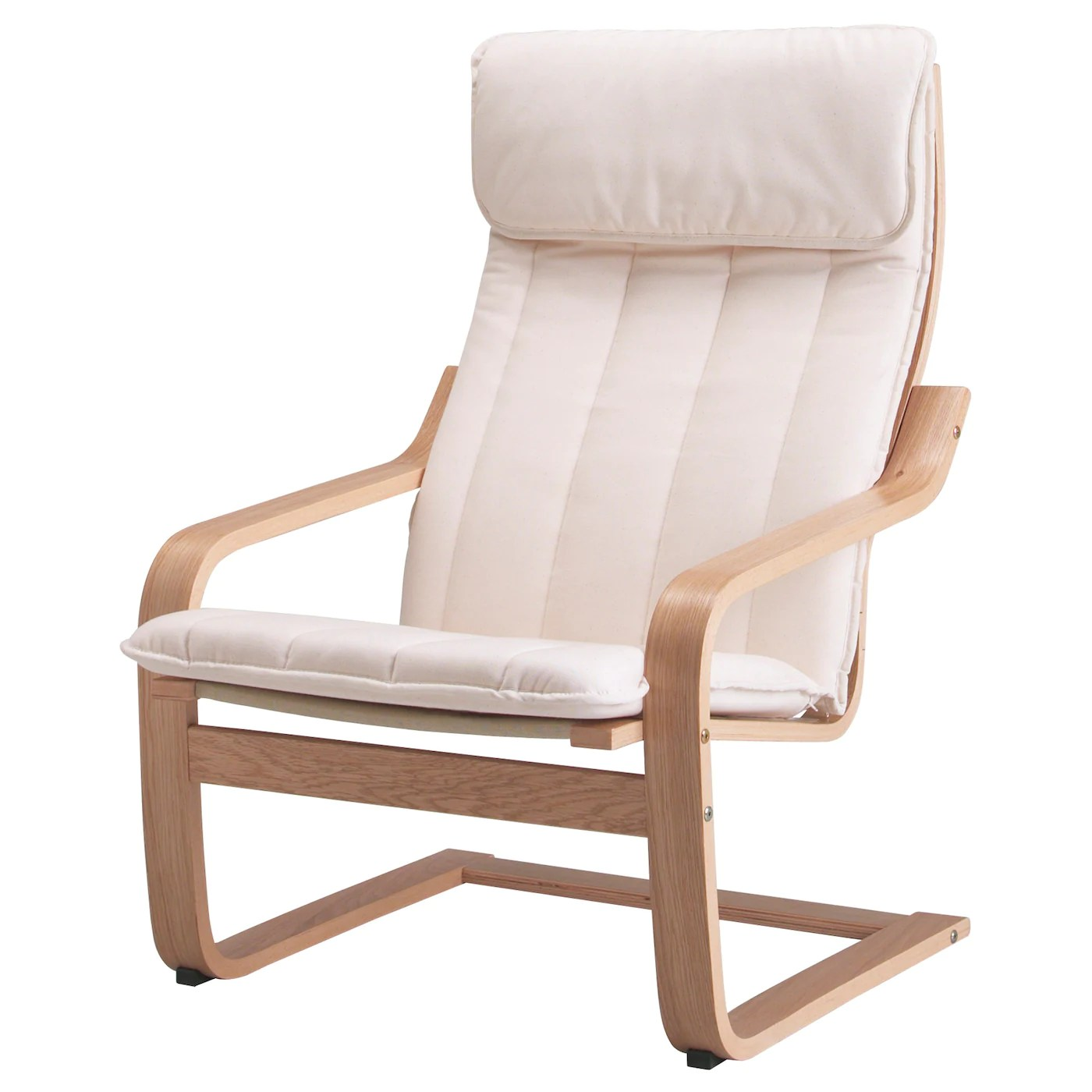 ikea arm chairs nursery rocking chair kijiji poÄng armchair oak veneer ransta natural
