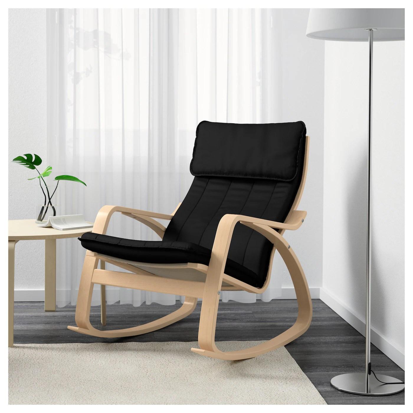 ikea poang rocking chair hanging outdoor chairs australia poÄng birch veneer ransta black