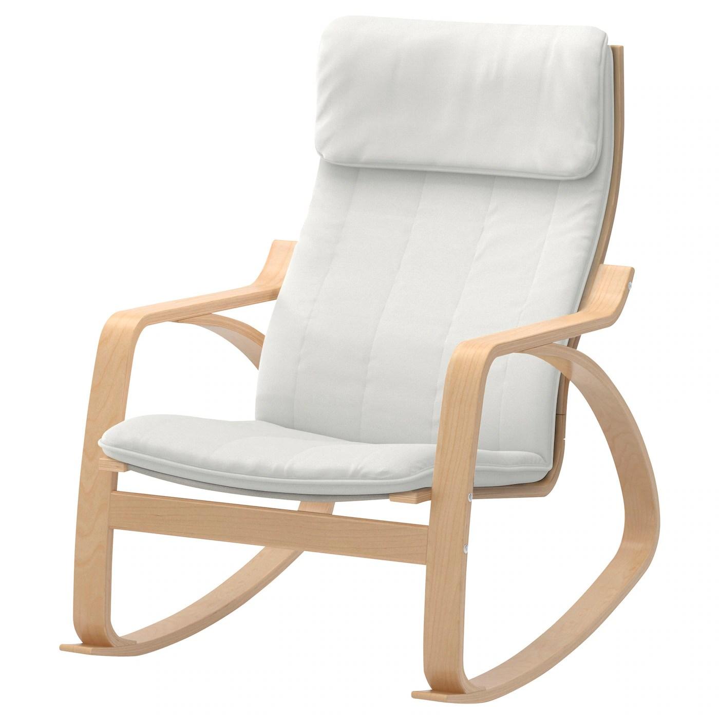 ikea rocking chairs accent ashley furniture poÄng chair birch veneer ransta natural