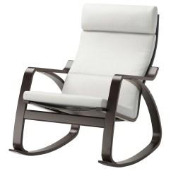 Ikea White Rocking Chair Wooden Eddie Bauer High PoÄng Black Brown Finnsta
