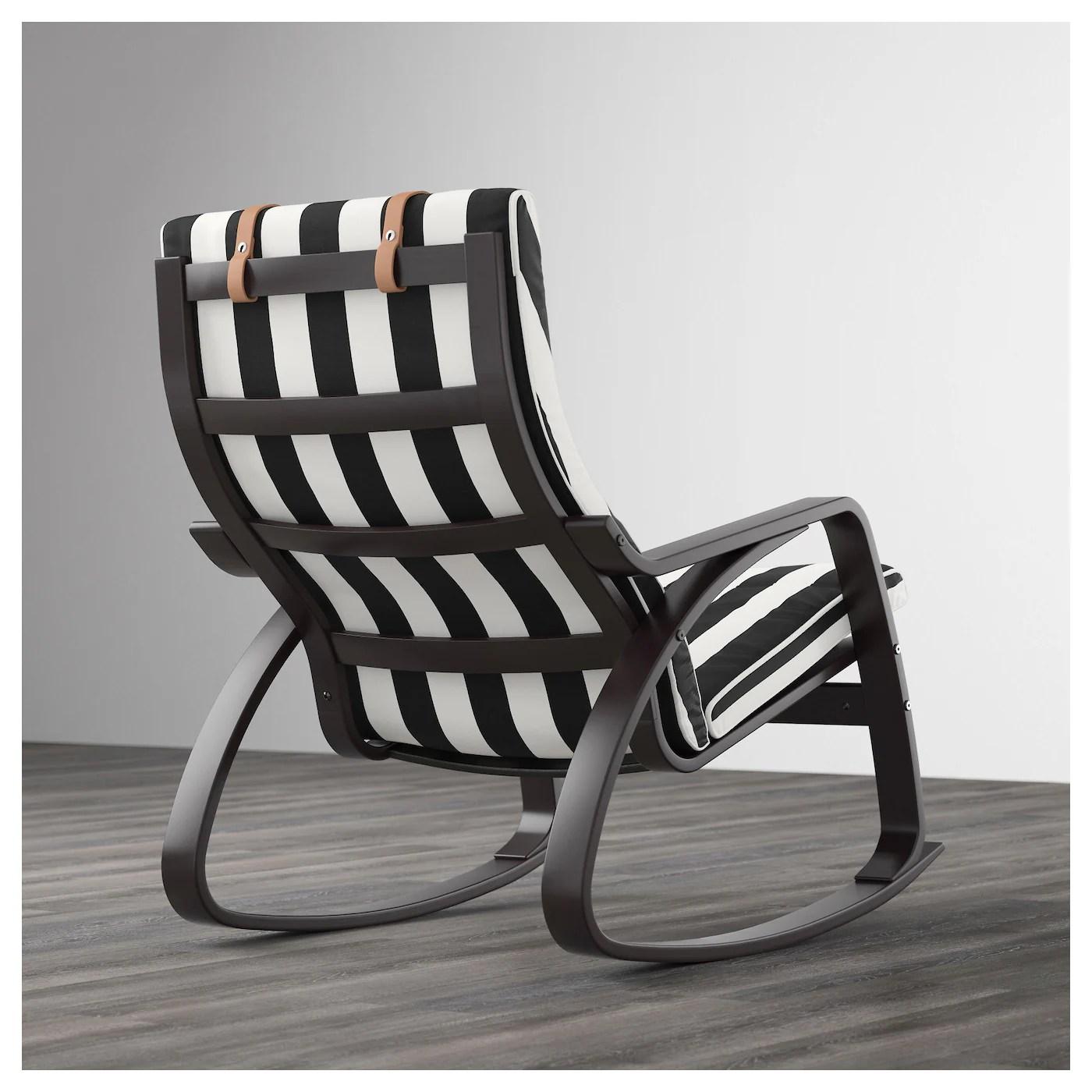 ikea white rocking chair indoor rattan cushions poÄng black brown stenli