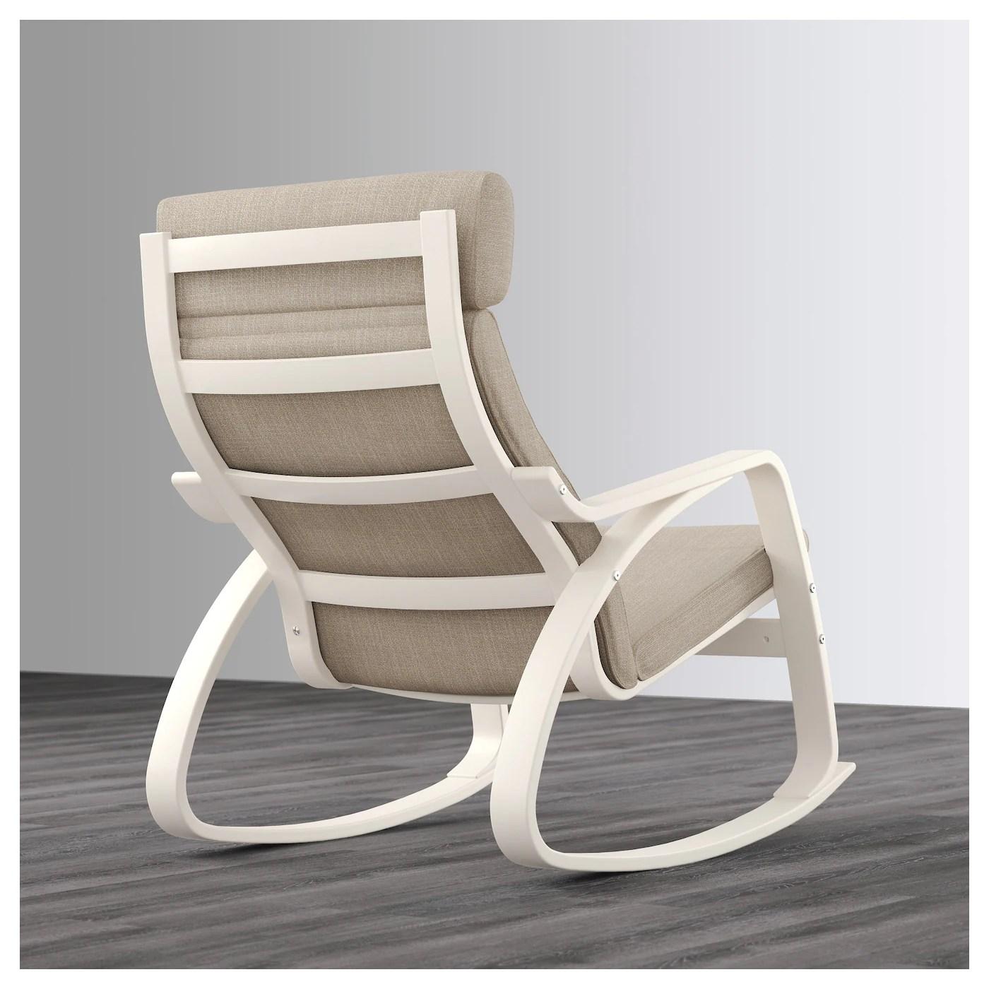 ikea white rocking chair folding easy poÄng hillared beige