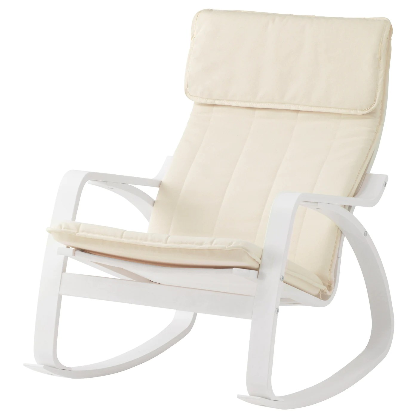 ikea white rocking chair antique styles poÄng ransta natural