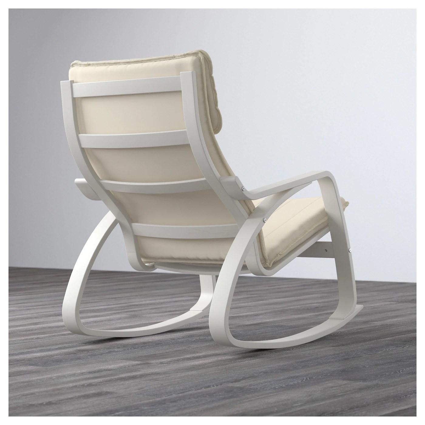 ikea white rocking chair light blue covers poÄng ransta natural