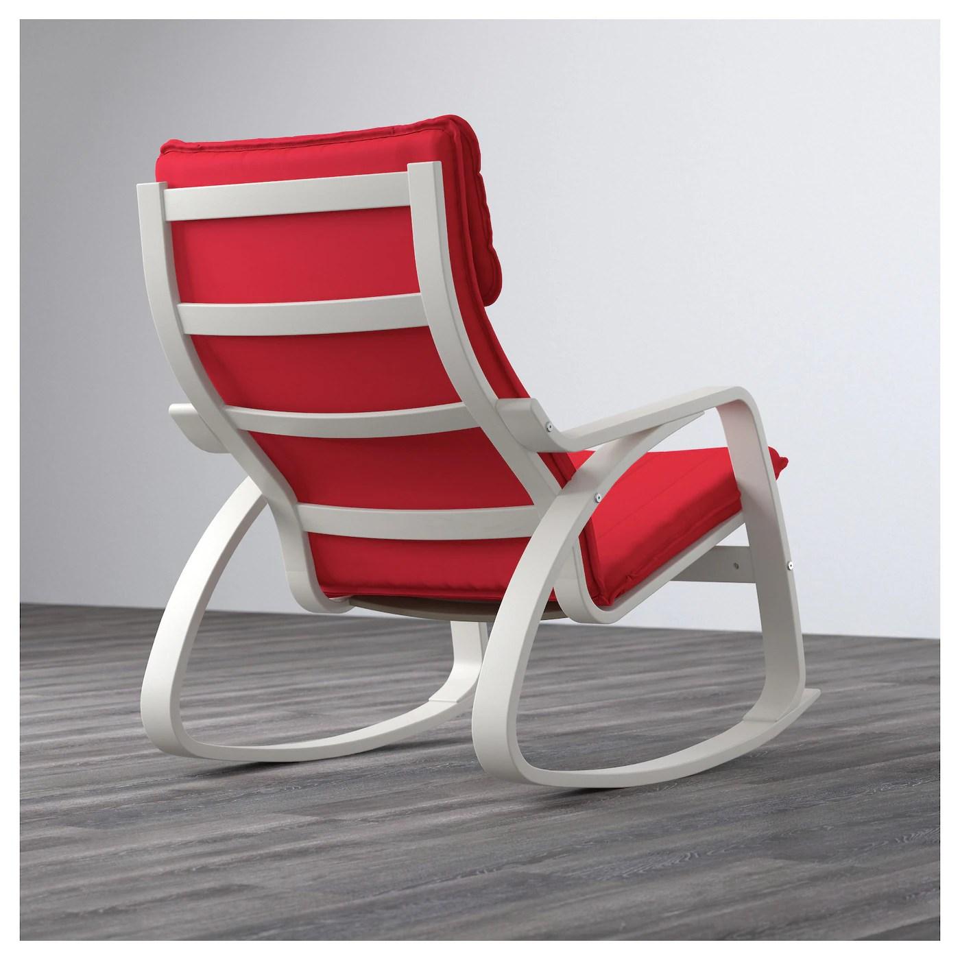 ikea white rocking chair lazy boy gaming uk poÄng ransta red