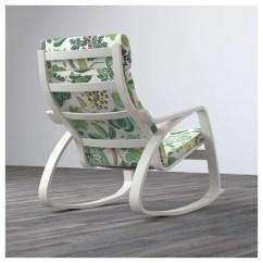 Green Rocking Chair Butterfly Original Design PoÄng White Simmarp Ikea