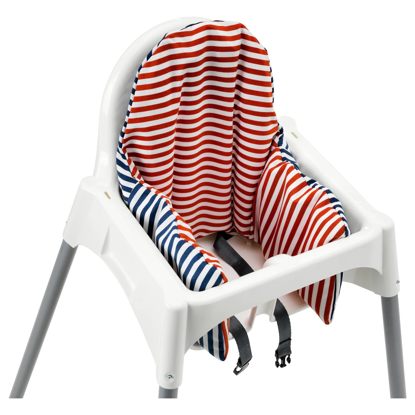 ikea high chair repair lounge pyttig supporting cushion and cover red blue