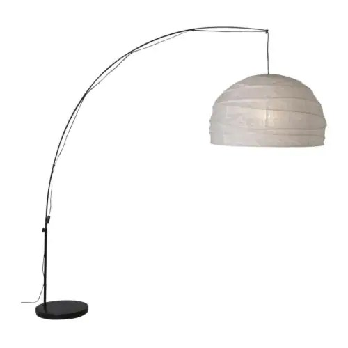 REGOLIT Floor lamp, bow IKEA Can be hung over your coffee table, for example, by connecting to a standard wall outlet.