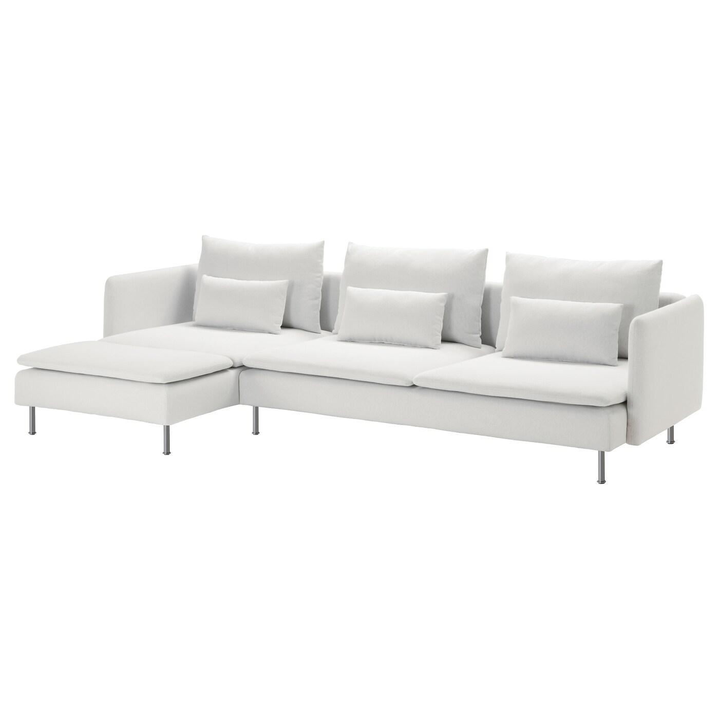 four seat sofa with chaise air mattress sleeper sÖderhamn 4 longue finnsta white ikea