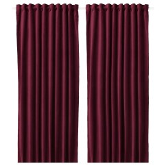 Kitchen Curtains For Sale Recessed Lighting Blinds Ikea Sanela 1 Pair Cotton Velvet Gives Depth To The Colour And Softness