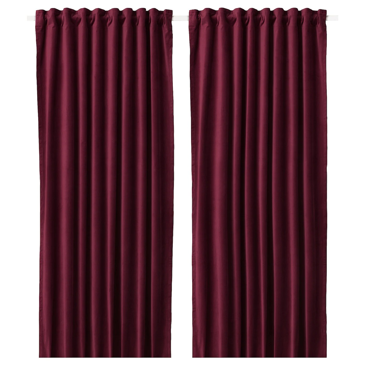 red and grey living room curtains small ideas in mumbai blinds ikea sanela darkening 1 pair