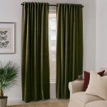 Sanela Room Darkening Curtains 1 Pair Olive Green 140x250 Cm Ikea