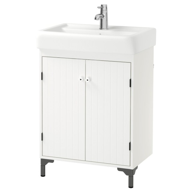 SILVER…N HAMNVIKEN Wash basin cabinet with 2 doors White 60x45x91