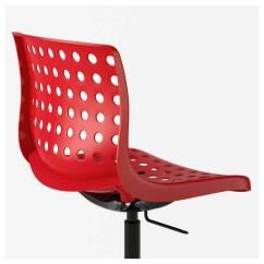 Red Desk Chair Ikea Tufted Accent SkÅlberg Sporren Swivel Black