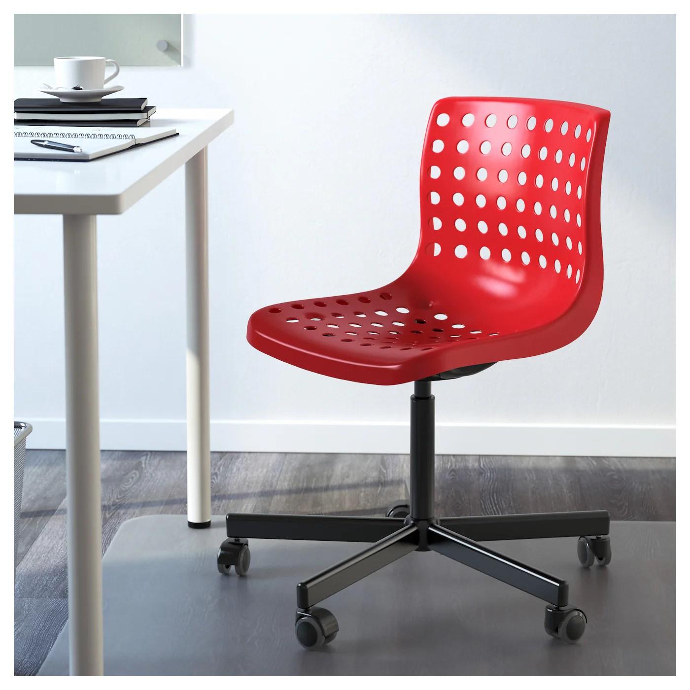 red desk chair ikea tufted chairs for sale skÅlberg sporren swivel black