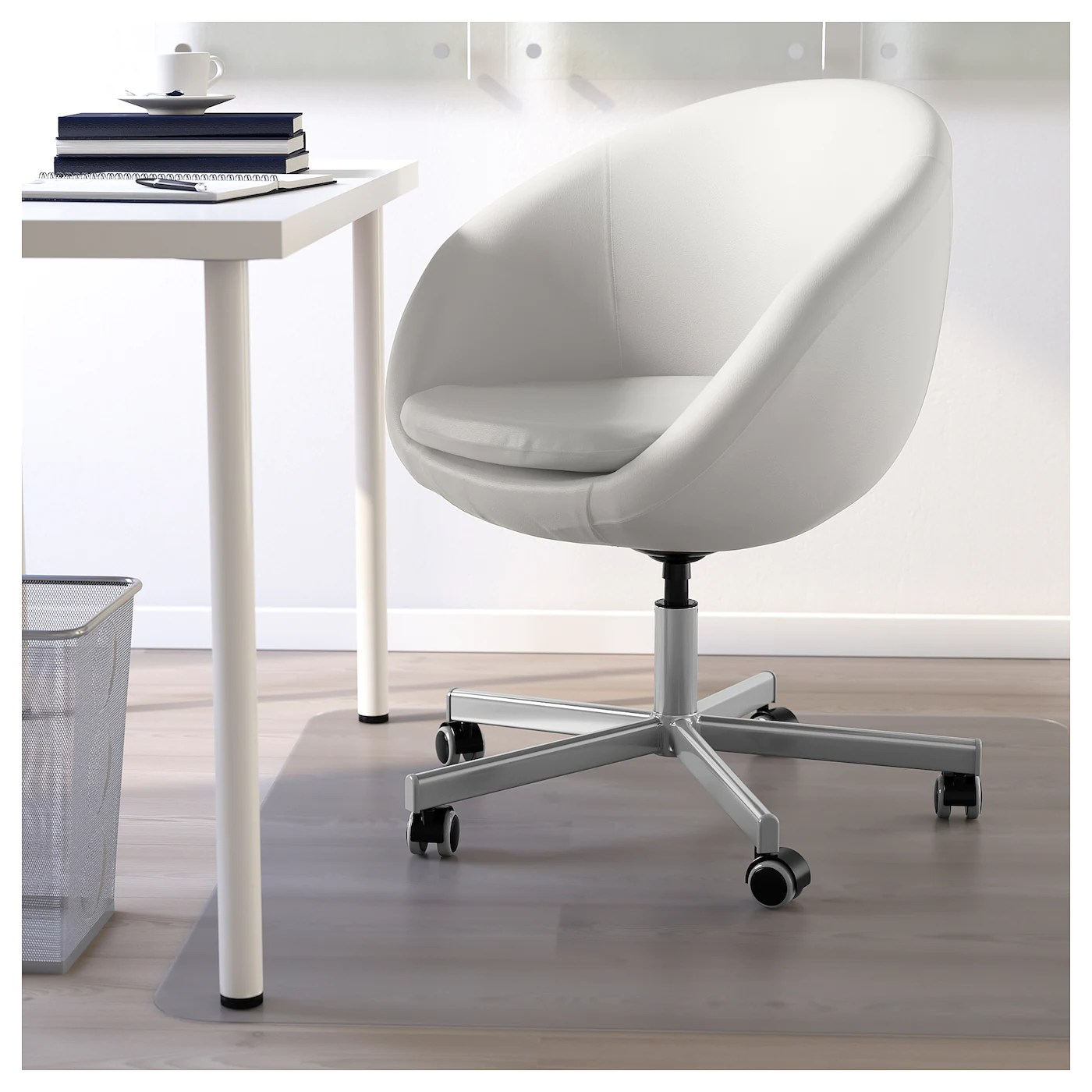 ikea office chair white vintage knoll chairs skruvsta swivel idhult