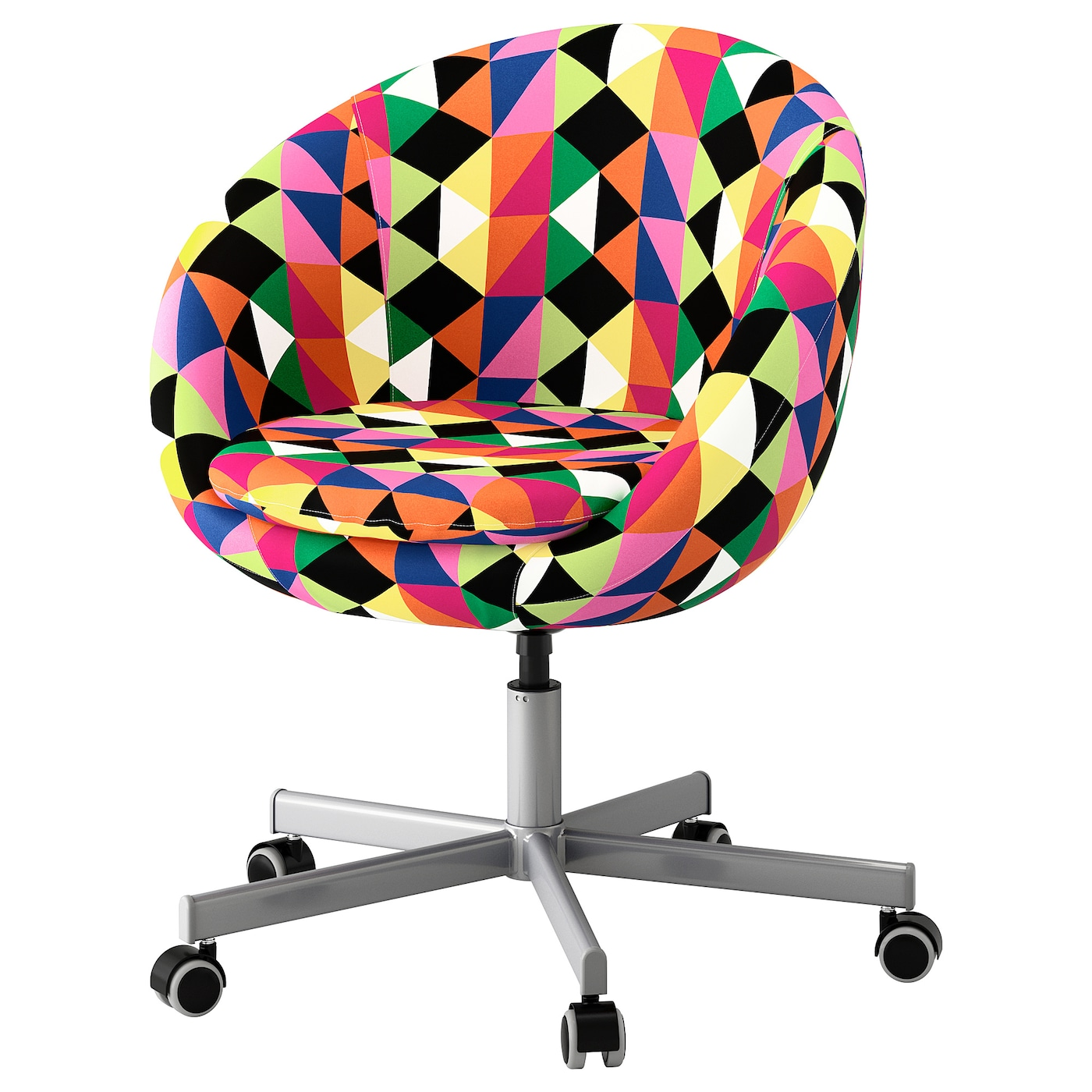 colorful desk chairs black spindle arm chair skruvsta swivel majviken multicolour ikea