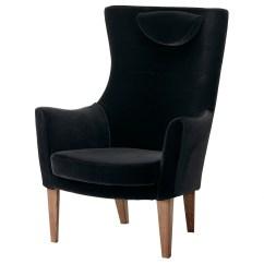 Ikea High Chairs Foldable Floor Chair Stockholm Back Armchair Sandbacka Black