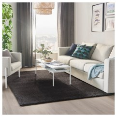 Dark Grey Living Room Rugs Family Ideas Stoense Rug Low Pile 170 X 240 Cm Ikea The Light Sheen Creates Variations In Surface