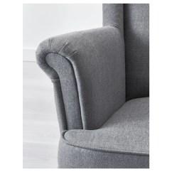 Grey Wing Chair Bungee Container Store Strandmon Nordvalla Dark Ikea