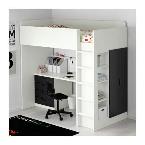 STUVA Loft bed combo w 4 drawers2 doors Whiteblack